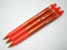 3 pcs NEW FRIXION ERASABLE retractable  PILOT 0.7mm roller pen Orange
