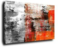 ABSTRACT Canvas Wall Art Picture Large oil painting Print Framed art black red