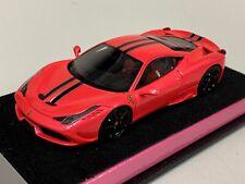 1/43 Looksmart Ferrari 458 Speciale in Metallic Pink custom Base Limited 25 pcs