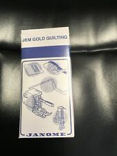 New listing Quilting Attachments For Janome New Home Low Shank Snap On Feed For Jem Gold