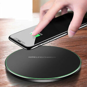 QI Wireless Fast Charger Charging Dock Pad Mat For iPhone Samsung Huawei Xiaomi