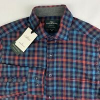 Rodd & Gunn Button Down Shirt Plaid Mens XS X-Small Stanaway Bordeaux NWT $178
