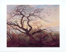 Caspar David Friedrich corvi su un albero poster stampa d'arte immagine 56,1x71,2cm
