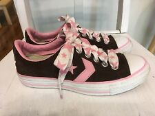 Converse All Star Reissue Brown Pink Suede Women's Size 6 Lace Up Sneakers