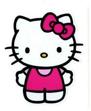 "# Hello Kitty Decal | 3.5"" w x 4"" t | Kitty White Sticker Japanese bobtail cat"
