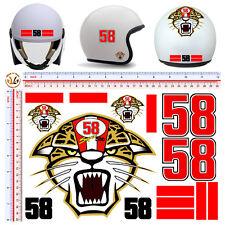 adesivi casco simoncelli super sic tigre stickers helmet tuning print pvc 15 pz.