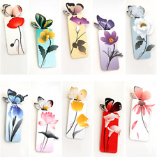 5 Pcs Bookmarks Butterfly Realistic Kawaii Book Marker Stationery Supplies Gifts