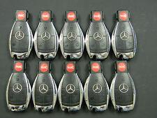 LOT OF 10 Mercedes Benz 4 button Infra Red Chrome Keyless Fob OEM IYZ3317