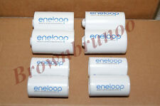 SANYO ENELOOP Spacers Adapters AA to C & D Size Battery 8 Pcs NEW