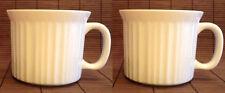 2 CorningWare French White 20oz  Ceramic Mug Soup Bowl Coffee Tea New Microwave