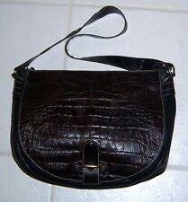 JOAN & DAVID Leather Hobo Shoulder Crossbody Handbag Purse Bag Brown Italy