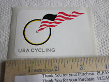 "3"" USA CYCLING FLAG BIKE Road Team Race Ride WOW  BICYCLE FRAME -- STICKER DECAL"