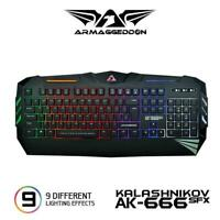 Gaming Keyboard Armaggeddon AK666SFX Wired Keyboard USB Multicolour Spill Proof