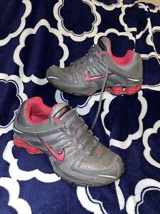 Nike Womens Shox Navina - 392868 060 - Dark Grey Sparkle / Pink - Womens Size 8