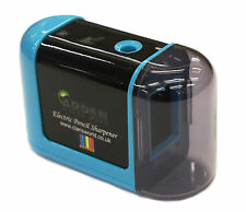 Blue Desktop Pencil Sharpener Automatic Electric Battery Operated  - V-3-BE