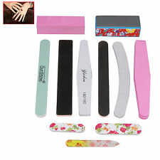 Nail Art Sanding Files Buffer Block Sponge Set for Pedicure Manicure Tool & Box
