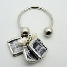 Custom mini charm keychain with your photos NEW mommy pearl jewelry personalized