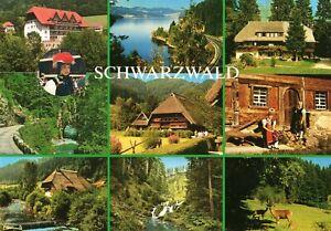 Schwarzwald Schwarzwaldhaus Schwarzwaldklinik Trachten Wasserfall AK