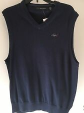 Greg Norman V Neck Sweater Vest SIZE S NWT Surf Blue