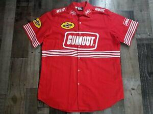 Vintage PENNZOIL RACING INDY CAR Crew Shirt Red Gumout Size XL