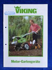 0498) Viking Motor-Gartengeräte Motorhacken Frontmäher - Prospekt Brochure 90er