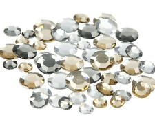 360 Assorted Clear & Yellow Round Jewel Rhinestones | Gemstone Embellishments