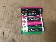 Chapstick 3 Sticks Strawberry Spearmint Cherry Flavor 4 Grams Each