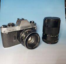 Vintage Rolleiflex SL35 Film Camera with Schneider 50mm Lens + Tele Lens