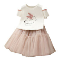 Hinfaesn Hinfaesn Sommer Baby Mädchen Kleidung Sets Mode Cartoon Niedlichen I5W8