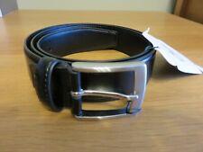 EDEN PARK Paris Men's Leather Belt - Black - Size 90 - NEW + Tags - RRP 85 Euros