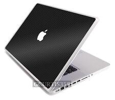 "3D CARBON FIBER Vinyl Lid Skin Cover Decal fit Apple Original Macbook 13"" Laptop"