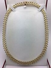 "Men's New Solid 10K Yellow Gold 18"" Watch Link Chain Necklace 44.2 grams 8.5 mm"