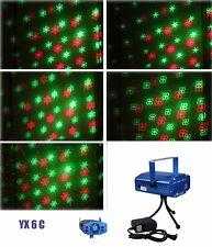 6 in 1 LED Laser Bühnenlicht Disco Party Lichteffekt Licht Lampe Projektor GX6C