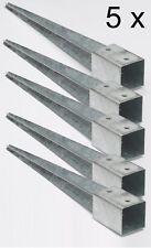 5 x 90 mm Bodenhülsen Einschlaghülsen Pfostenträger 75 cm lang Holz-Lamellenzaun