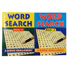 A4 Word Search Puzzle Books - Book 1 & 2, Each includes 152 Pages