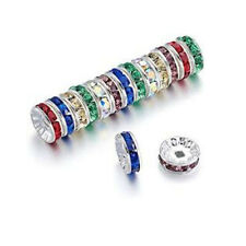 100pcs Czech Crystal Rhinestone Rondelle Spacer Beads Mix Color 4mm