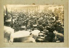 Lehnert et Landrock, Tunis, Bataillon sur la place, ca.1908 vintage silver print