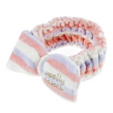 Big bow elasticity Pastel color stripe Soft for washing face Hair bands (Pu O8U8