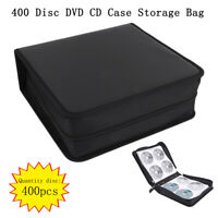 High Grade PU Leather 400 Disc CD DVD Storage Holder Carry Case Bag Organizer XG