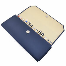 Wancher Japan Genuine Leather High Quality Fountain Pen Case 13 Pens Blue New
