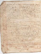 1669 King Louis XIV manuscript parchment document red ink post medieval signatur