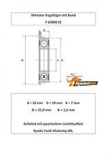 10x Bund Kugellager F 63800 ZZ 10x19x7 mm Flange Bearing Flansch Kugellager