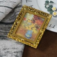 1:12 Doll House Oil Painting Picture Miniature Flower Toys Furniture Ornament UK