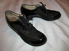 vintage Monks 40's patent leather and mesh wingtip oxford shoes 6 B wow!