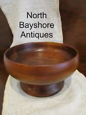 Antique 1890s New England Pieced and Turned Walnut Wooden Centerpiece Bowl aafa
