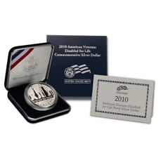 2010 American Veterans Disabled Commemorative Silver Dollar Proof