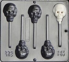 Skull Lollipop Chocolate Candy Mold Halloween  906 NEW