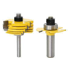 """8pcs Biscuit Joint Slot Cutter Jointing Slotting Router Bit 1/2'' 1/4"""" Shank"""