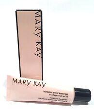 MARY KAY FOUNDATION PRIMER~SPF 15~NIB~FULL SIZE~1 OZ~MATTE FINISH~PRIMES FACE!
