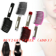 Women Bristle Nylon Hairbrush Scalp Massage Comb Detangle Hair Brush Salon To